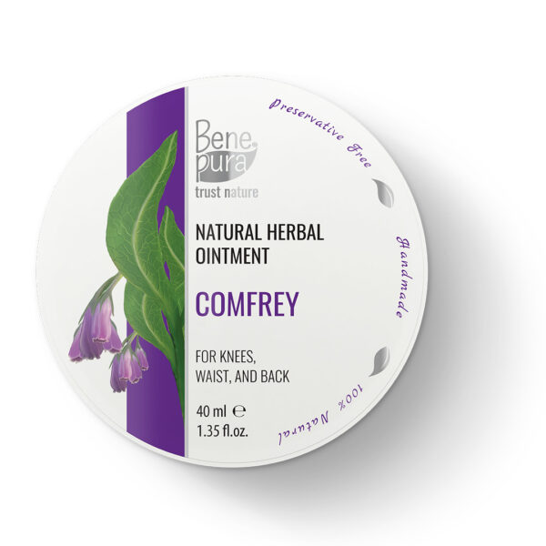 Natural-Comfrey-Ointment-1.35-fl.oz-40ml-for-Knees-Waist-Back-Pain-Cold-Oil-Extract-100%-Natural-Pure-Concentrate-from-Nature-Handmade-in-the-EU-1